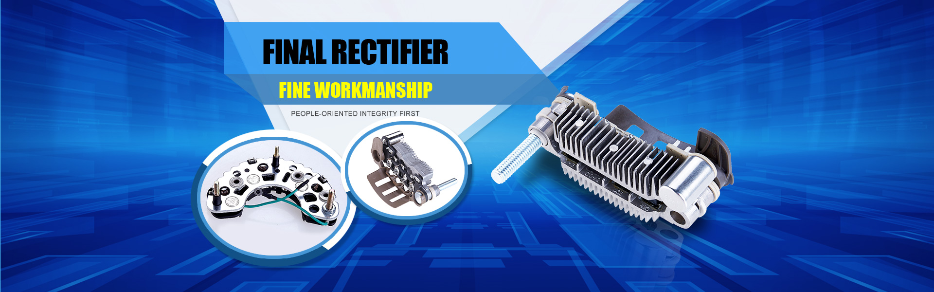 which with advanced production of vacuum sintering auto rectifier, the tunnel line of rectifier ,and the auto line of electronic regulator.